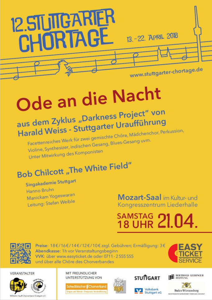 Plakat Stuttgarter Chortage