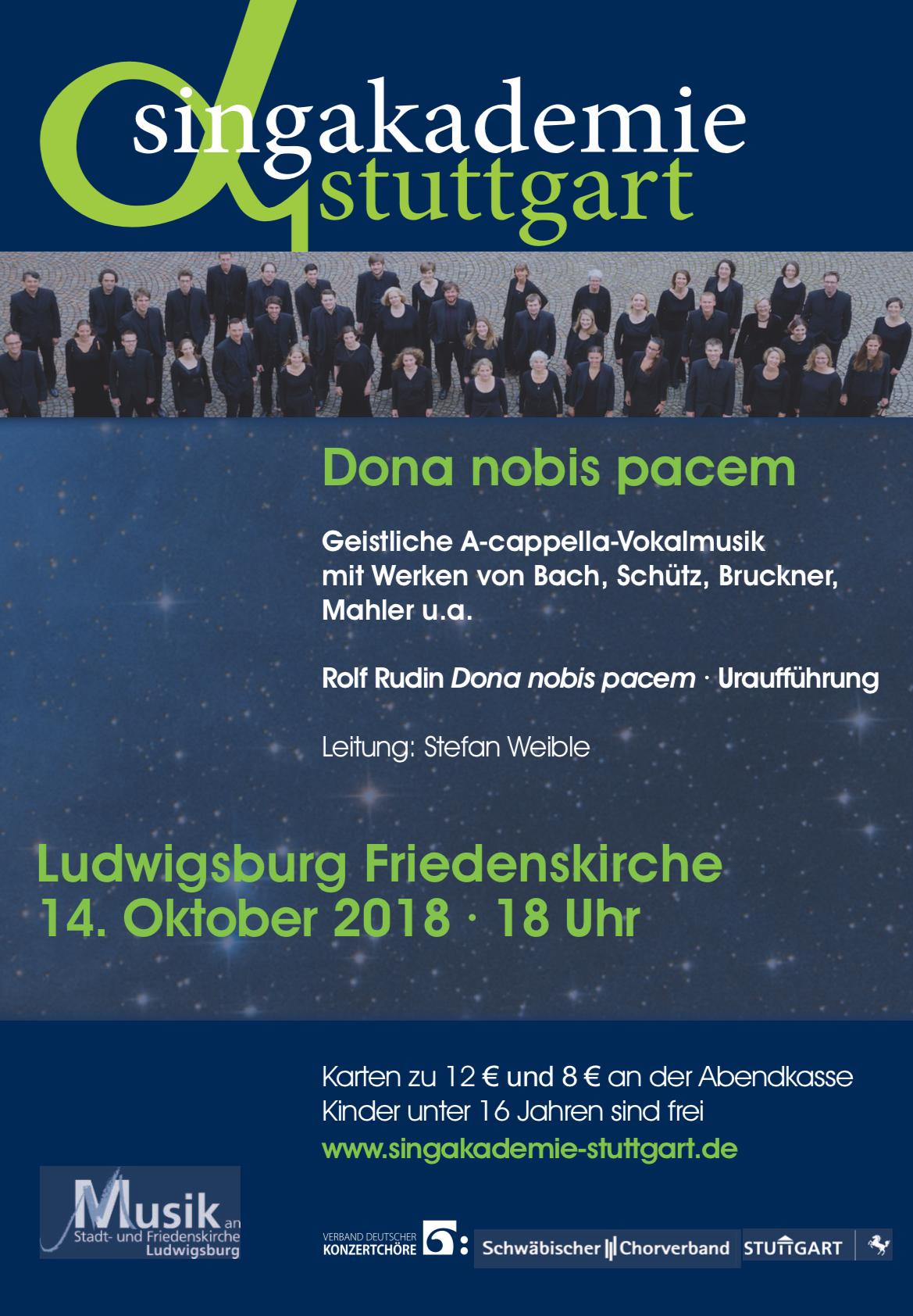Plakat Friedenskirche Ludwigsburg