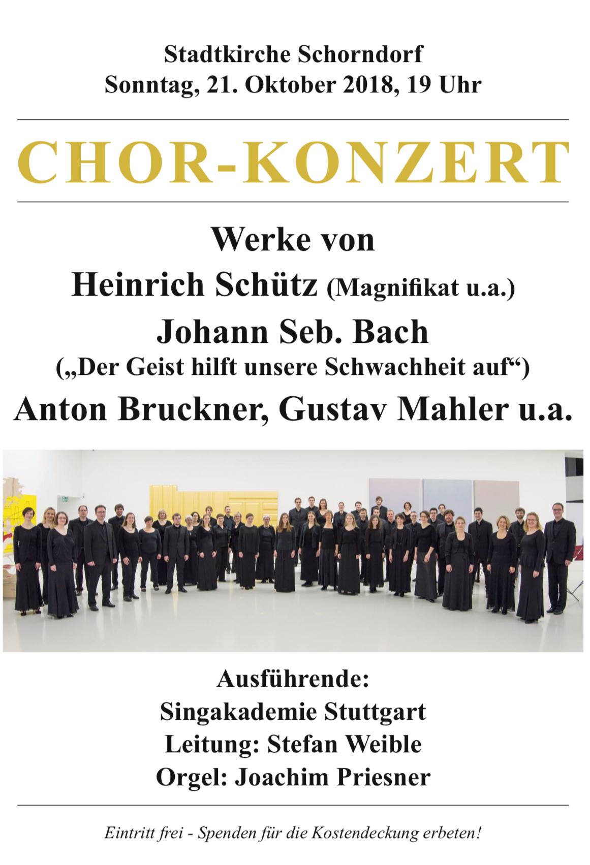 Plakat Stadtkirche Schorndorf